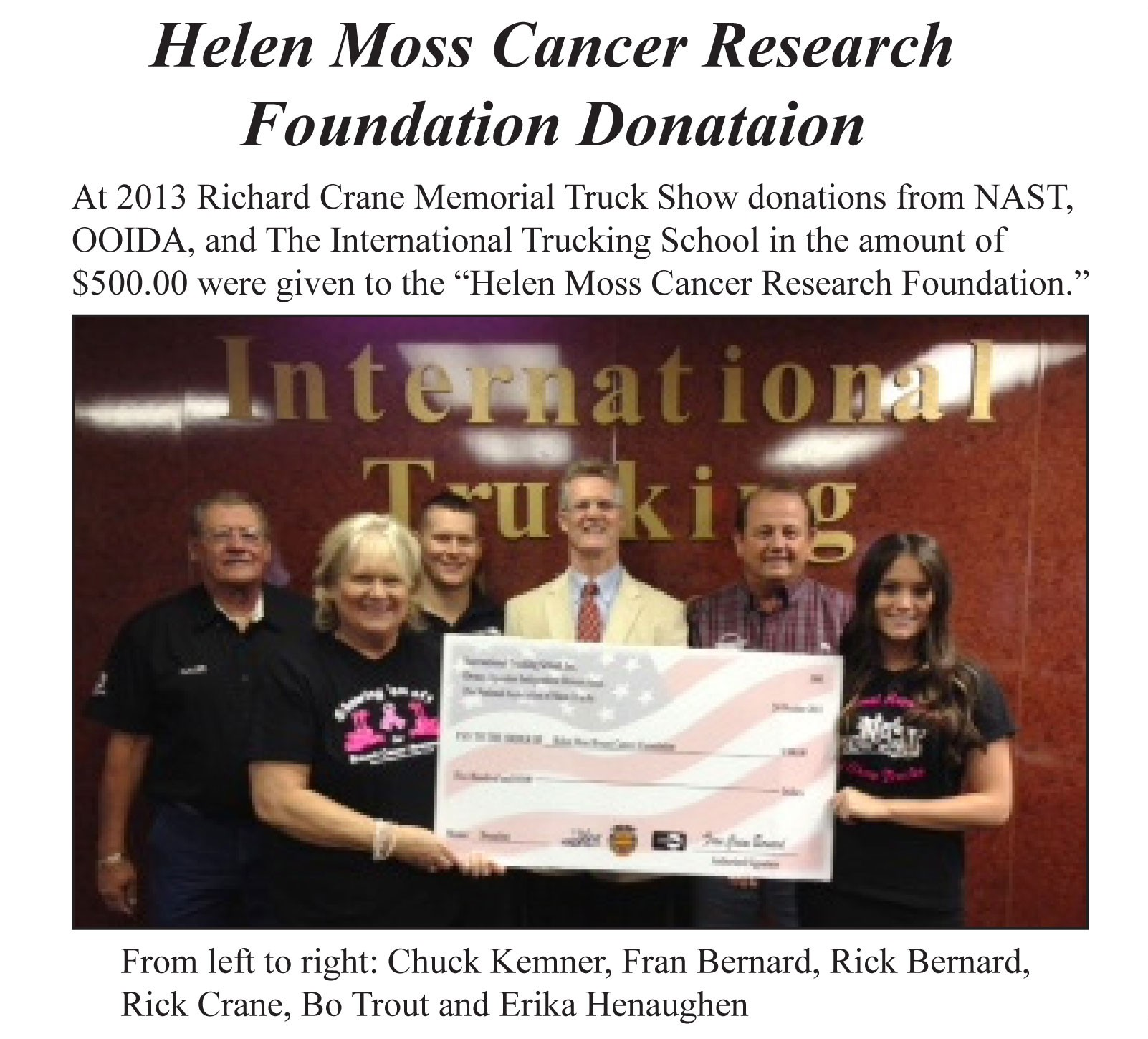 Helen-Moss-Cancer-Research-Donation